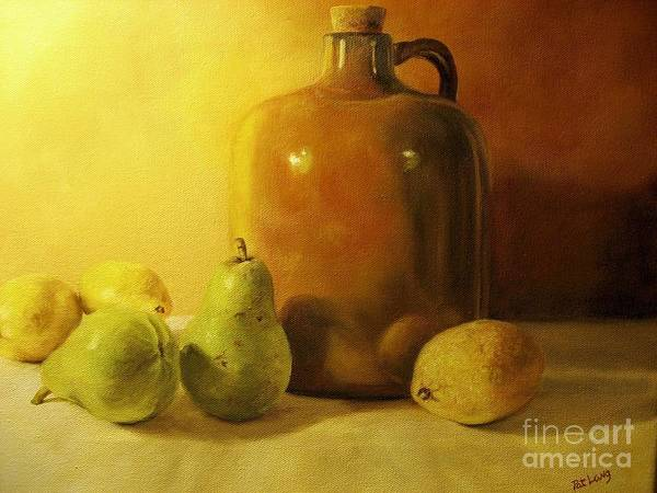 Wall Art - Painting - Pears And Lemons by Patricia Lang