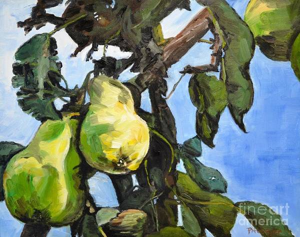 Painting - Pears For Picking by Lori Pittenger