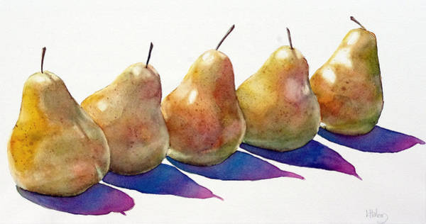 Painting - Pears I by Greg and Linda Halom