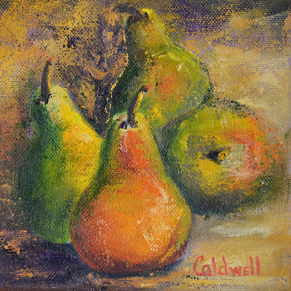 Wall Art - Painting - Pears by Patricia Caldwell