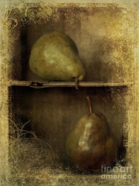 Shabby Chic Photograph - Pears by Priska Wettstein