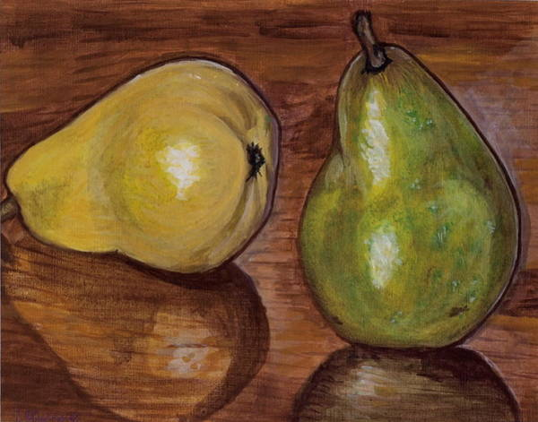 Wall Art - Painting - Pears by Vera Lysenko
