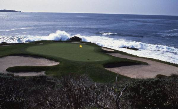 Golf Course Photograph - Pebble Beach 7th Hole by Retro Images Archive