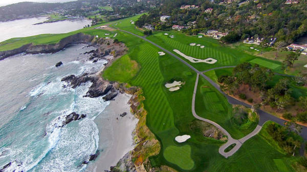 Pebble Beach Golf Course Photograph - Pebble Beach Golf Course by David Levy