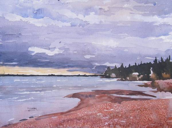 Lake Superior Painting - Pebble Beach On The North Shore by Spencer Meagher