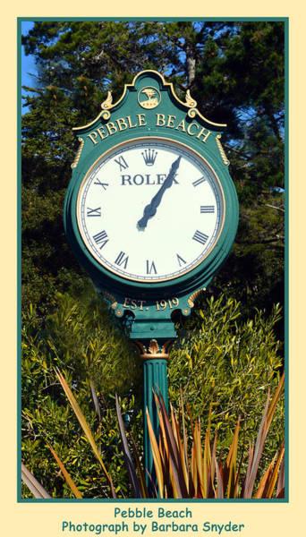 Digital Art - Pebble Beach Rolex by Barbara Snyder