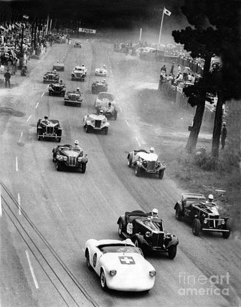 Photograph - Pebble Beach California Sports Car Races Auto Road Race April 11 1954 by California Views Archives Mr Pat Hathaway Archives