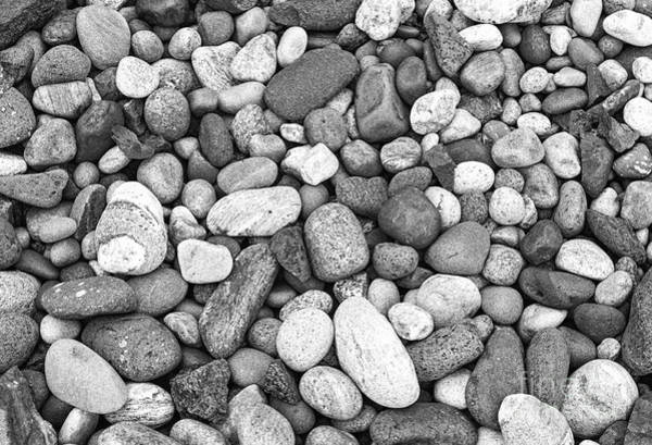 Photograph - Pebbles In Black And White by Les Palenik