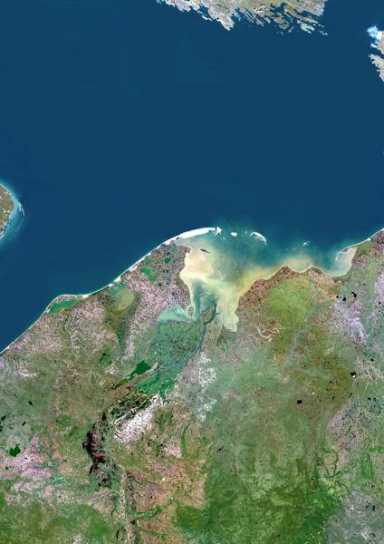 River Delta Photograph - Pechora River Delta by Planetobserver/science Photo Library