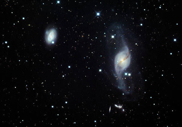 Wall Art - Photograph - Peculiar Spiral Galaxy (ngc 3718) by Robert Gendler/science Photo Library