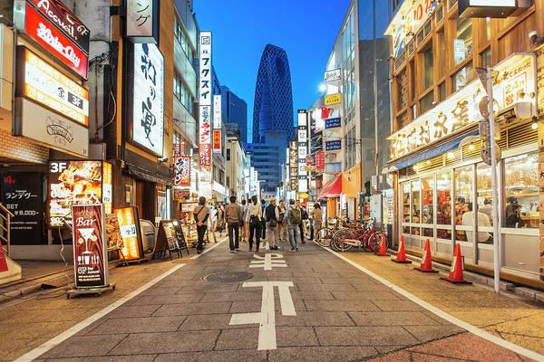 Japanese Culture Photograph - Pedestrian Street In Shinjuku Ward by Alexander Spatari