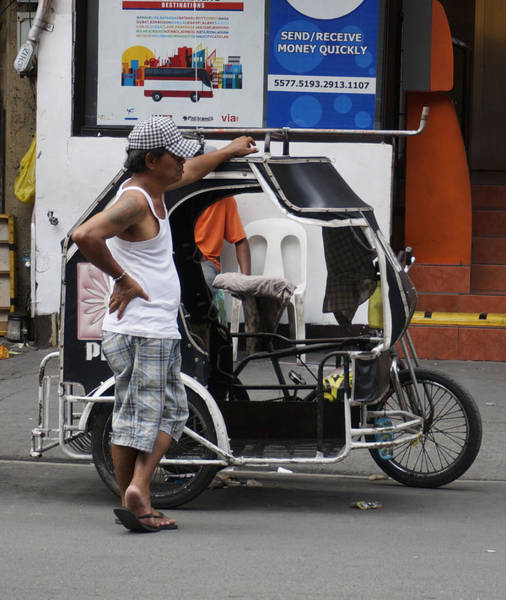 Photograph - Pedicab And Driver by Ron Roberts