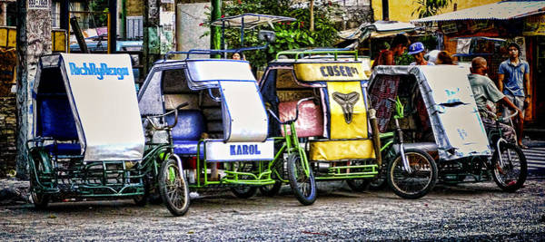 Photograph - Pedicabs Manila Philippines by Ron Roberts
