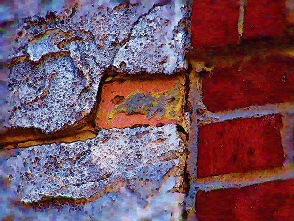 Digital Art - Peek A Boo Brick by Alec Drake
