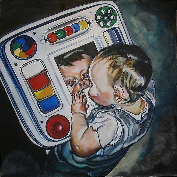 Painting - Peek A Boo by Stephanie Come-Ryker