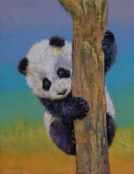 Happy Little Trees Painting - Peekaboo by Michael Creese