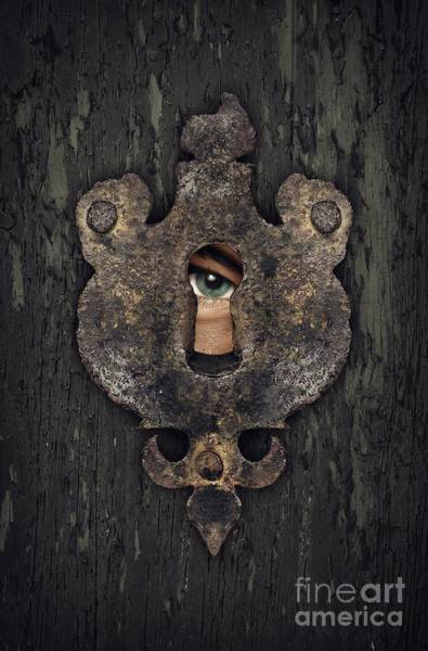 Privacy Photograph - Peeking Eye by Carlos Caetano