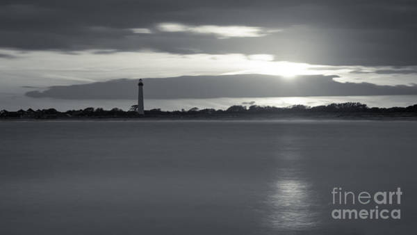 Cape May Lighthouse Photograph - Peeking Through The Clouds Bw by Michael Ver Sprill