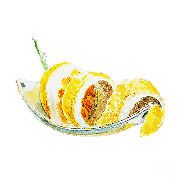 Wall Art - Painting - Peeled Lemon by Irina Sztukowski