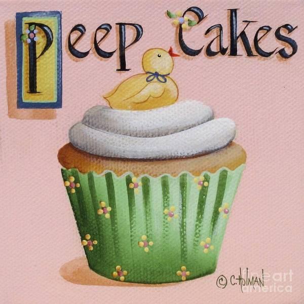 Holman Wall Art - Painting - Peep Cakes by Catherine Holman