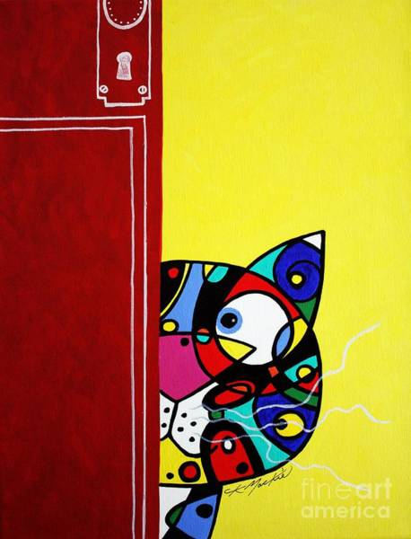 Painting - Peeping Tom by CK Mackie