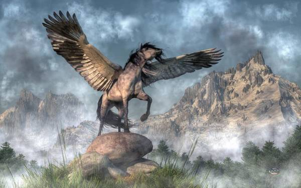 Digital Art - Pegasus by Daniel Eskridge