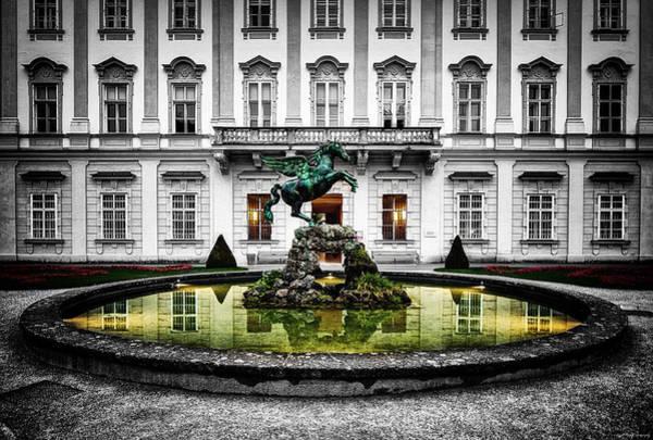 Photograph - Pegasus Fountain by Ryan Wyckoff