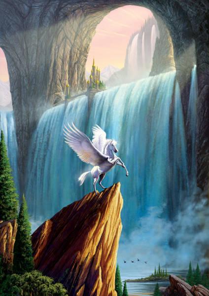 Animal Kingdom Wall Art - Photograph - Pegasus Kingdom by MGL Meiklejohn Graphics Licensing