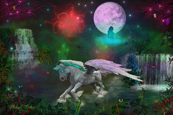 Wall Art - Digital Art - Pegasus by Michael Rucker