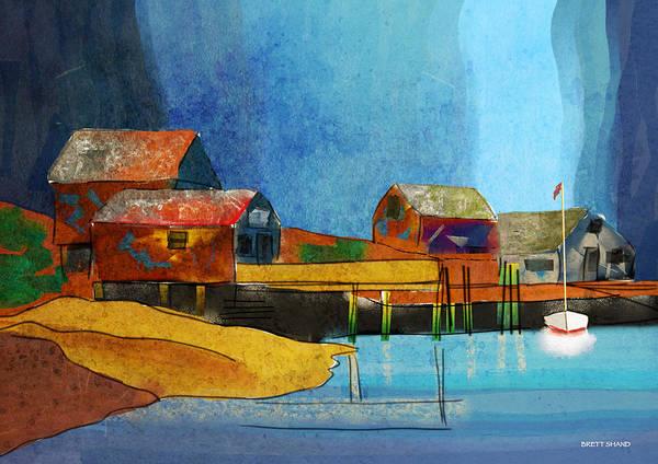 Digital Art - Peggys Cove by Brett Shand