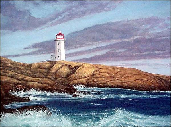 Peggy's Cove Light Art Print