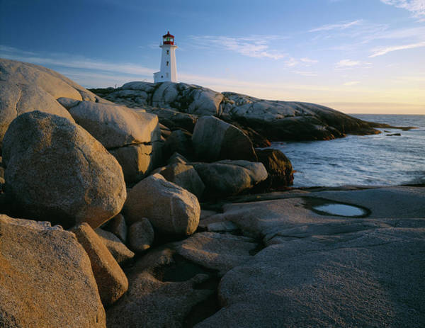 Peggys Cove Photograph - Peggys Cove Lighthouse In The Evening by Panoramic Images