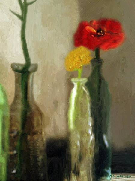 Painting - Peggy's Flowers by RC DeWinter