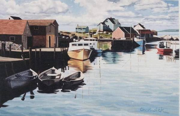 Nova Scotia Painting - Peggy's Harbour by Phil Chadwick