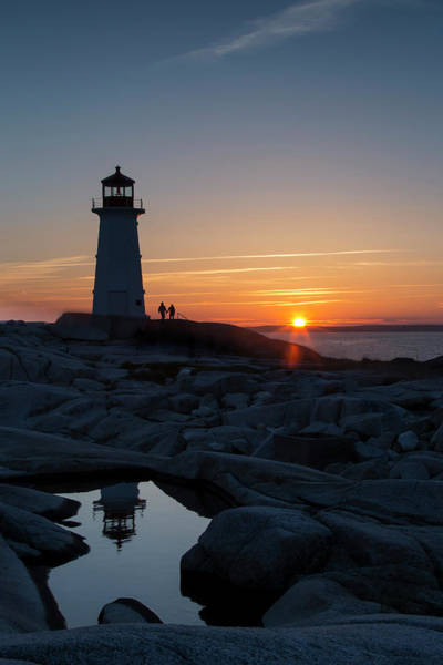Wall Art - Photograph - Peggys Point Lighthouse At Sunset by Robbie George