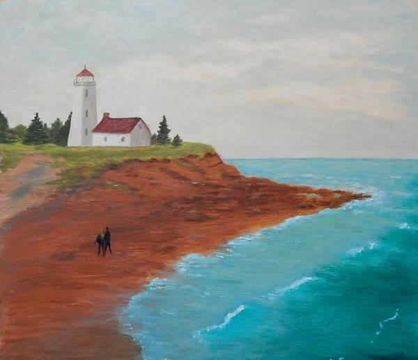 Prince Edward Island Painting - P E I Lighthouse by Matilda Compton McLeod