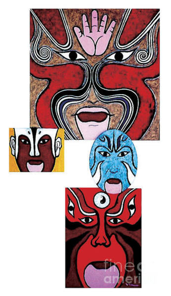 Painting - Peking Opera No.1 by Fei A