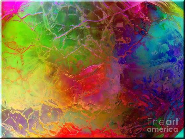 Pele Digital Art - Peles Glass Vase by Dorlea Ho