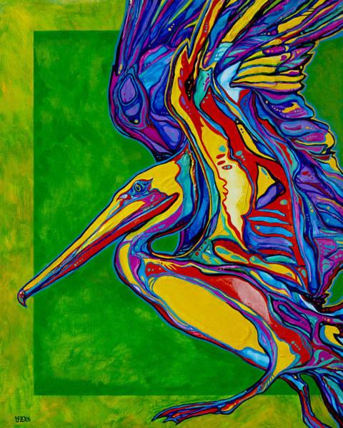 Wall Art - Painting - Pelican by Derrick Higgins