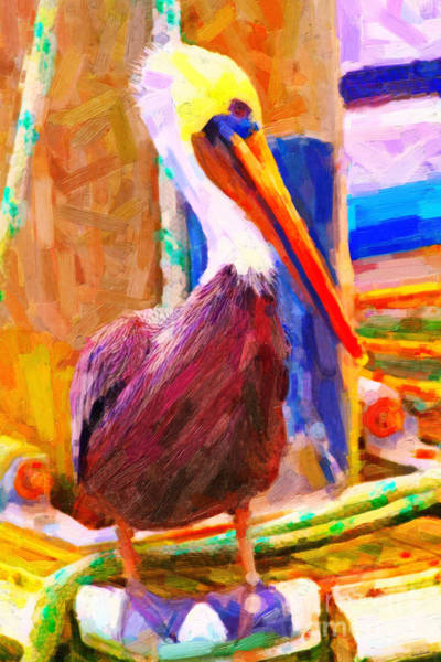 Wall Art - Photograph - Pelican On The Dock by Wingsdomain Art and Photography