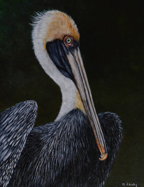 Painting - Pelican Posing by Nancy Lauby