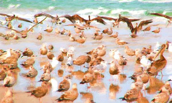 Photograph - Pelicans Coming by Alice Gipson