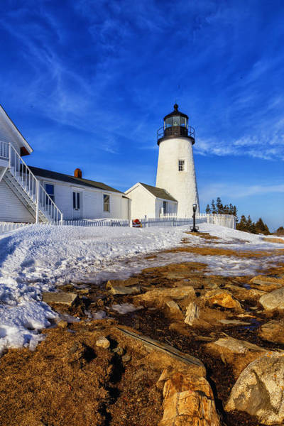Photograph - Pemaquid Light In Winter by Tom Singleton