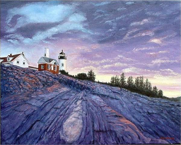 Painting - Pemaquid Point Dawn by Fran Brooks