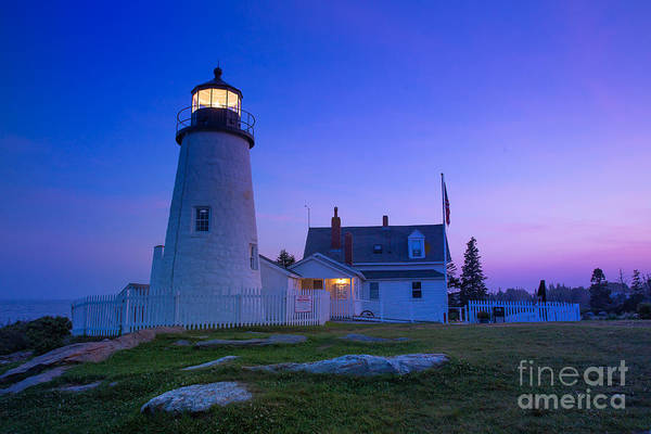 2014 Photograph - Pemaquid Point Lighthouse At Sunset by Bridget Calip