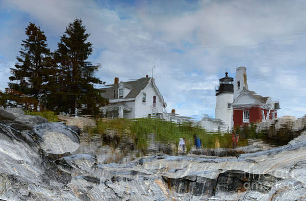 Photograph - Pemaquid Point Lighthouse Reflection by Sharon Seaward