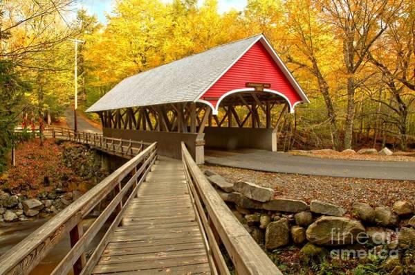 Photograph - Pemigewasset River Covered Bridge by Adam Jewell
