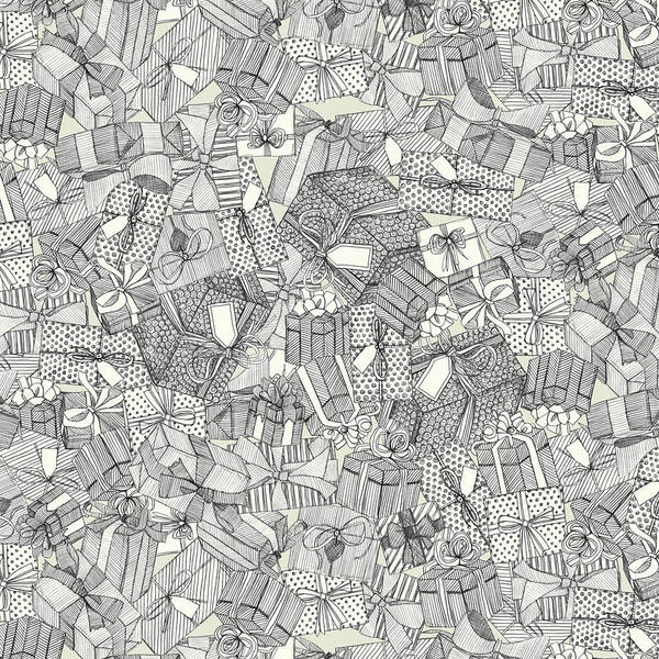 Wall Art - Drawing - Pencil Parcels Ivory by MGL Meiklejohn Graphics Licensing