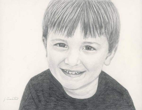 Drawing - Pencil Portrait by Jeannette Tramontano