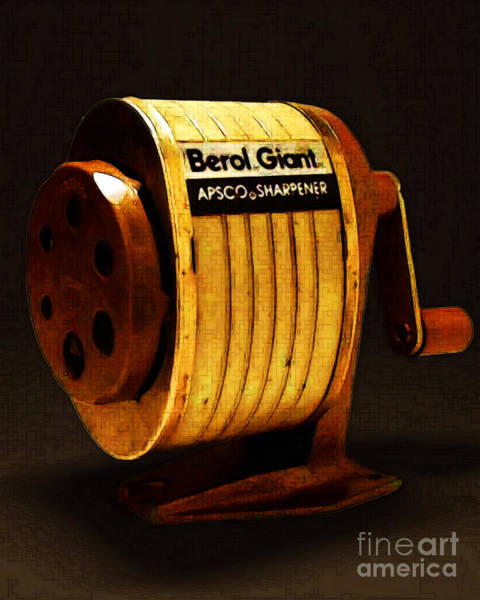 Wing Back Photograph - Pencil Sharpener 20141215v2 by Wingsdomain Art and Photography